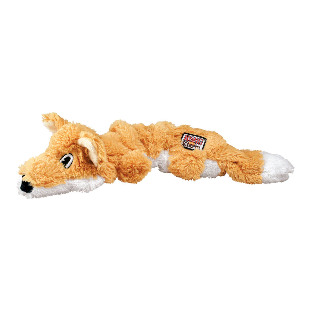KONG Scrunch Knots Fox Dog Toys KONG
