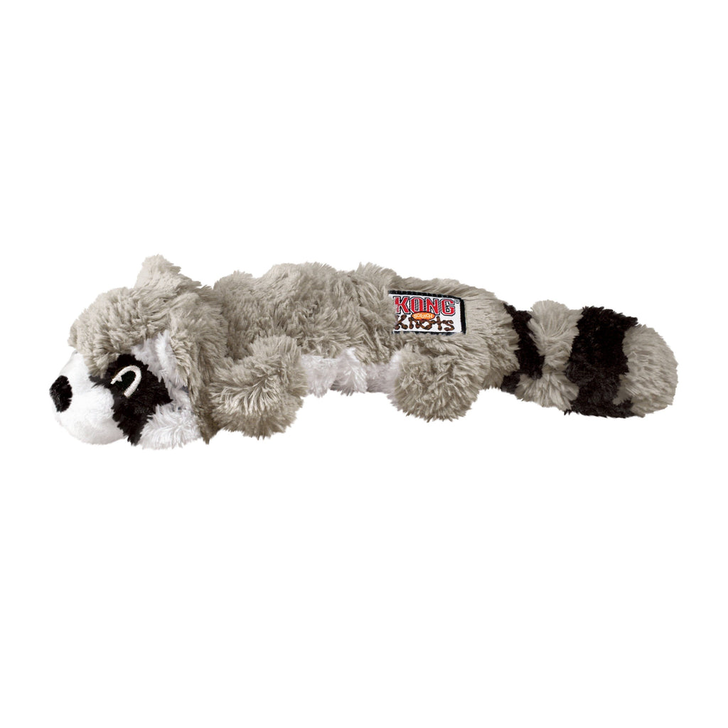 Kong Scrunch Knots Racoon Dog Toys KONG