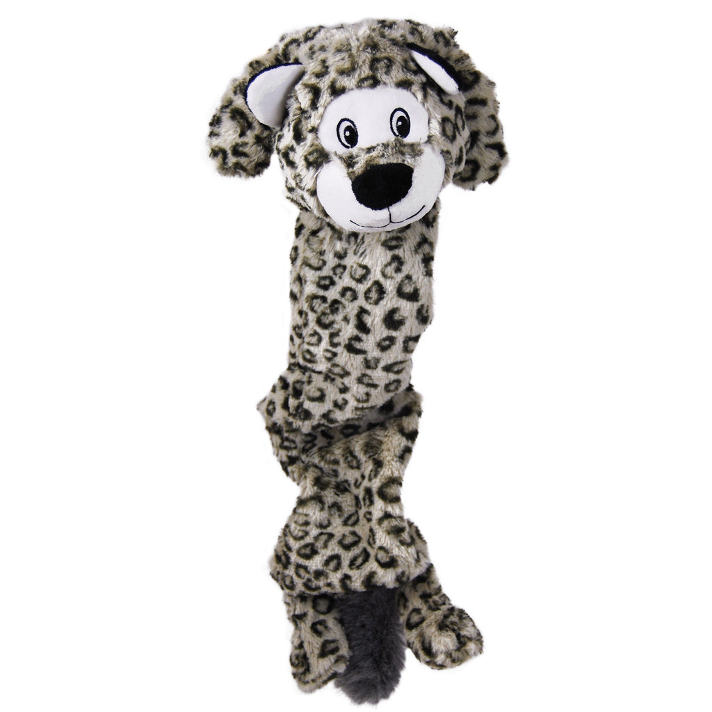 Kong Stretchezz Jumbo Snow Leopard Dog Toys KONG