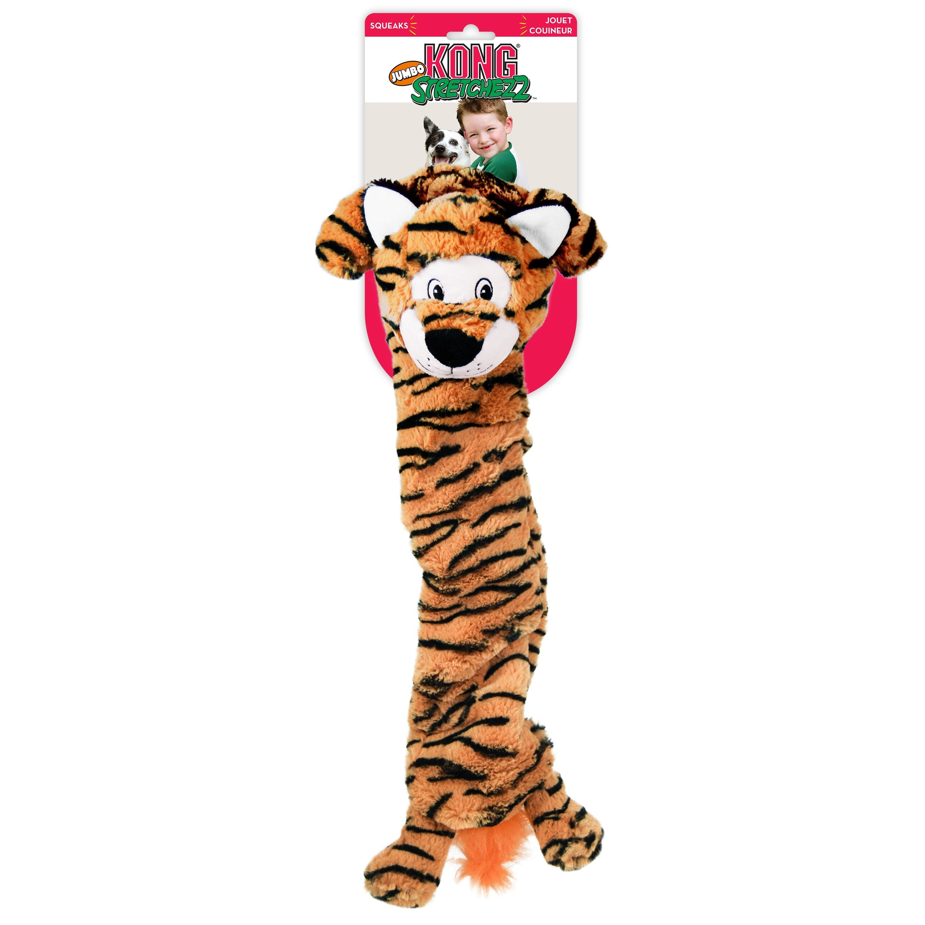 Kong Stretchezz Jumbo Tiger Dog Toys KONG