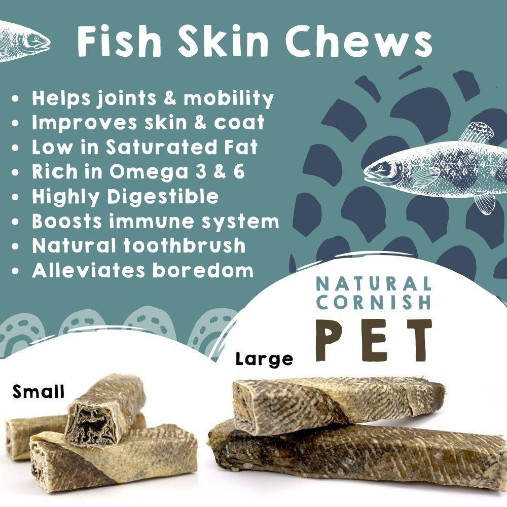 Large Fish Stick Chew Box Dog Treats Natural Cornish Pet