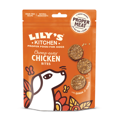 Lily's Kitchen Chomp-Away Chicken Bites Dog Treats Lily's Kitchen