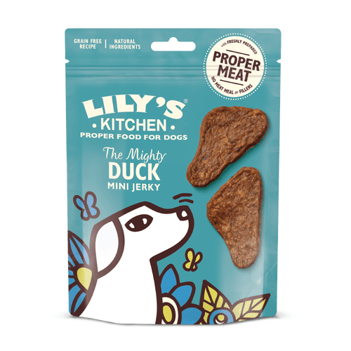 Lily's Kitchen The Mighty Duck Mini Jerky Dog Treats Lily's Kitchen