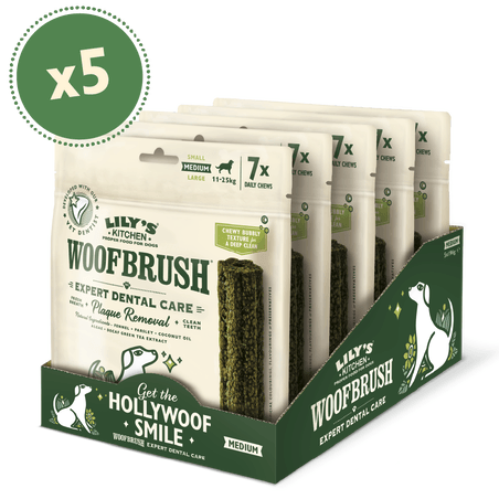 Lily's Kitchen Woofbrush Dental Chews For Dogs - Medium Dog Treats Lily's Kitchen