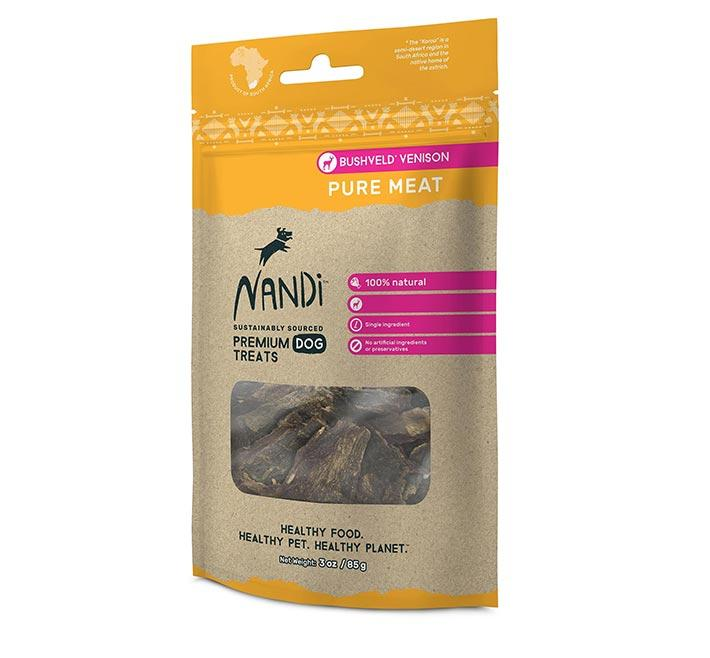 Nandi Bushveld Venison Pure Meat 85g Dog Treats Nandi