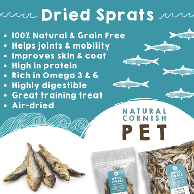 Natural Dried Sprats for Dogs Dog Treats Natural Cornish Pet