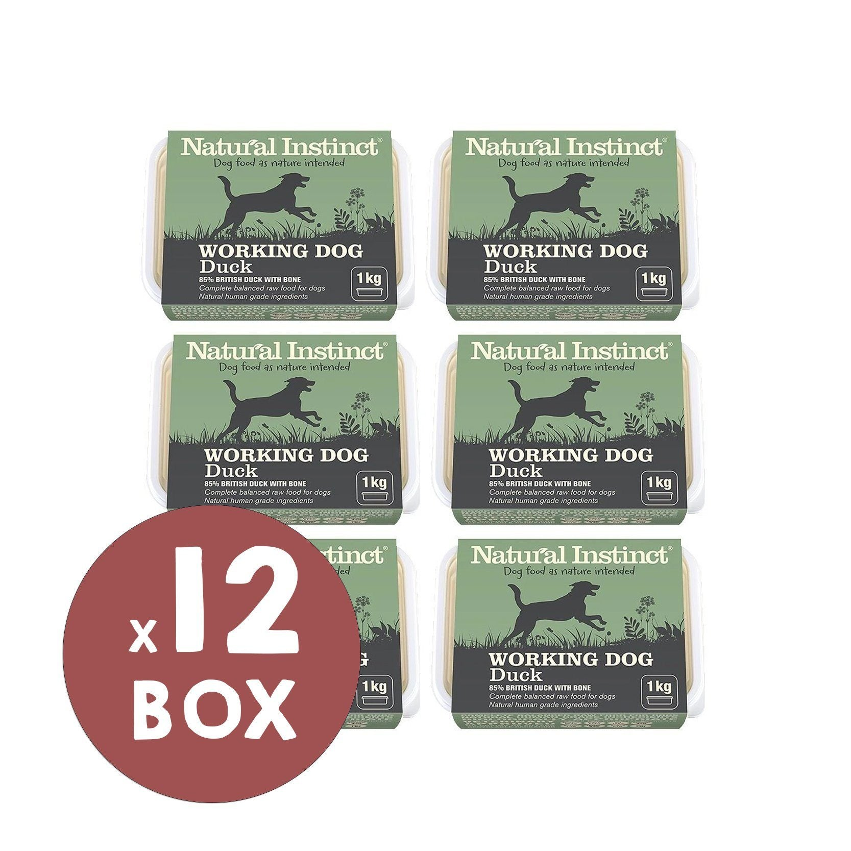 Natural Instinct Working Dog Duck Bundle Dog Food - Frozen Natural Instinct