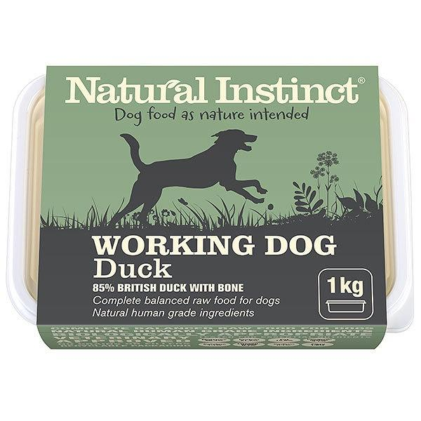 Natural Instinct Working Dog Duck Dog Food - Frozen Natural Instinct