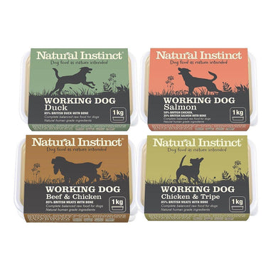 Natural Instinct Working Dog Variety Bundle x12 Dog Food - Frozen Natural Instinct