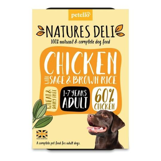 Natures Deli Chicken with Sage & Brown Rice Dog Food - Wet Natures Deli