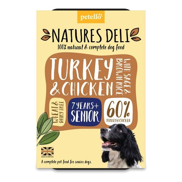 Natures Deli Turkey & Chicken with Sage & Brown Rice Senior Dog Food - Wet Natures Deli
