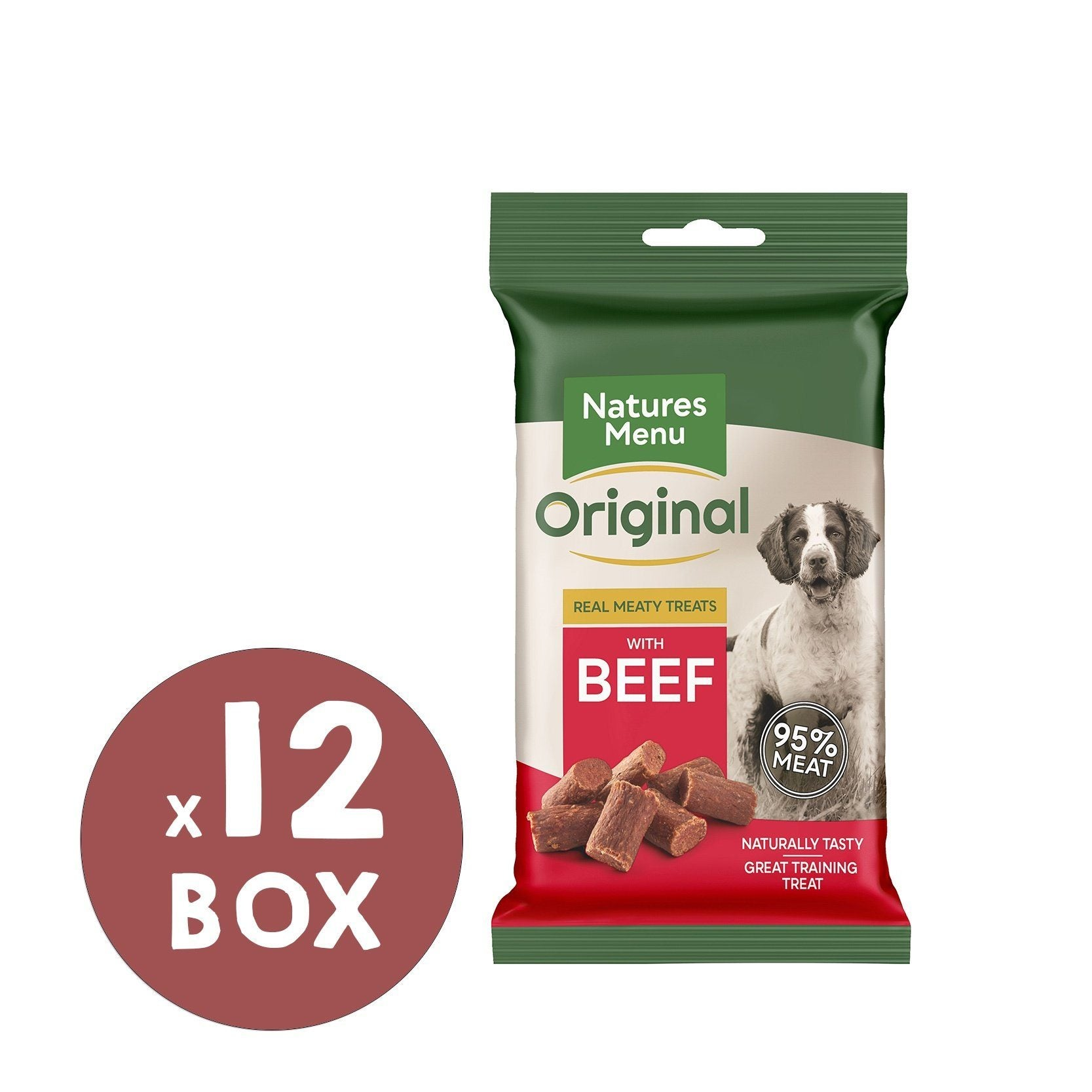 Natures Menu Beef Mini Treats x 12 Dog Treats Natures Menu
