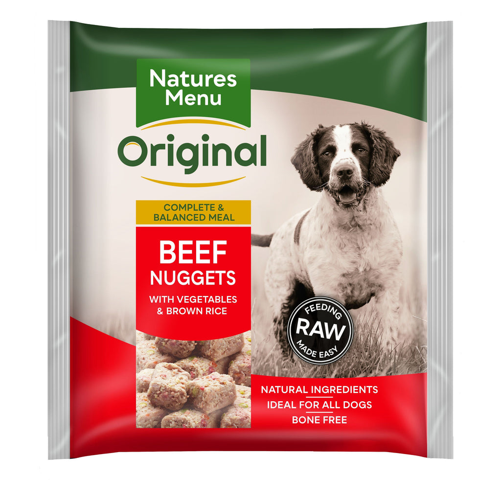 Natures Menu Beef Nuggets Dog Food - Frozen Natures Menu