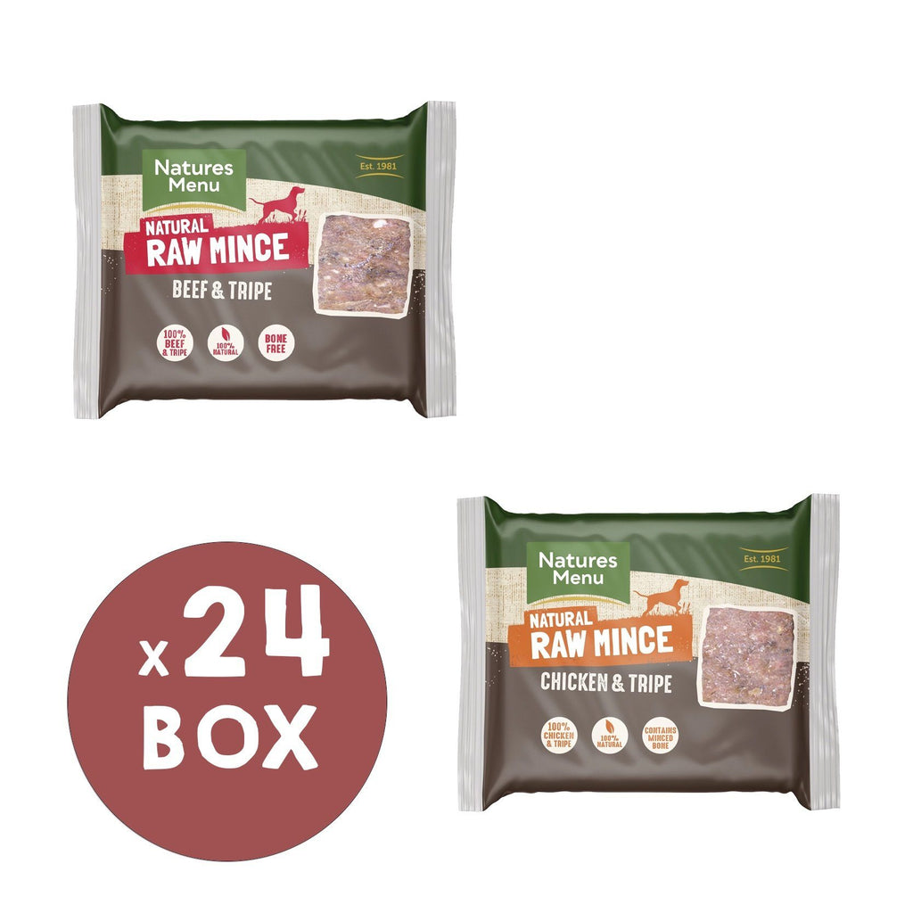 Natures Menu Beef & Tripe and Chicken & Tripe Mince Portions Bundle Dog Food - Frozen Natures Menu