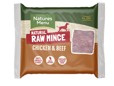 Natures Menu Chicken & Beef Mince Portions Dog Food - Frozen Natures Menu