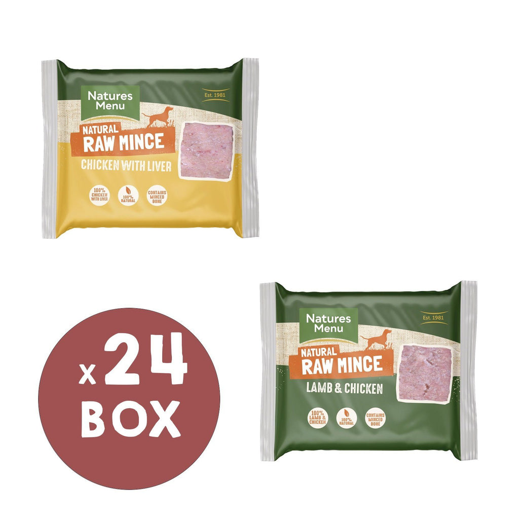 Natures Menu Chicken & Liver and Lamb & Chicken Mince Portions Bundle Dog Food - Frozen Natures Menu