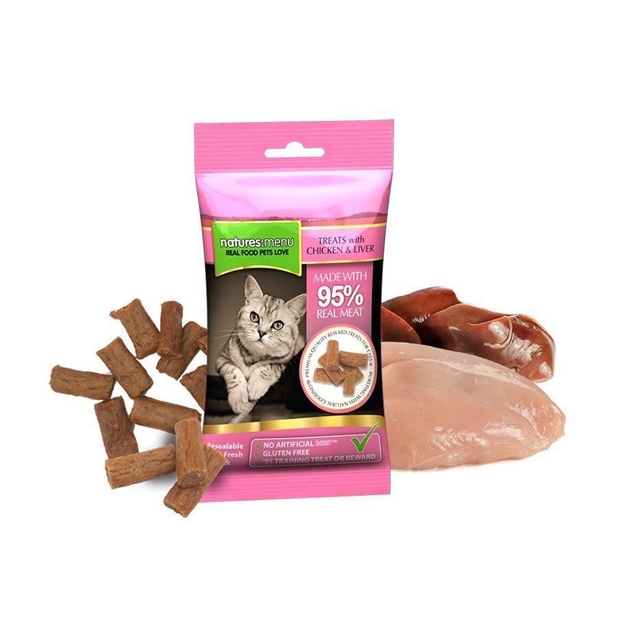 Natures Menu Chicken & Liver Mini Treats Cat Treats Natures Menu