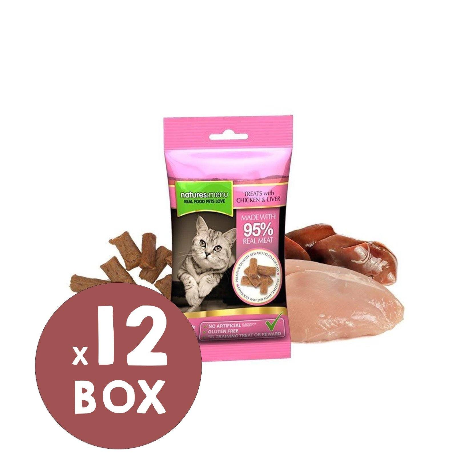 Natures Menu Chicken & Liver Mini Treats x 12 Cat Treats Natures Menu
