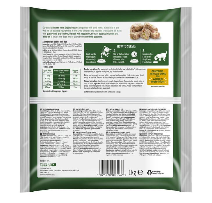 Natures Menu Chicken Nuggets Bundle Dog Food - Frozen Natures Menu