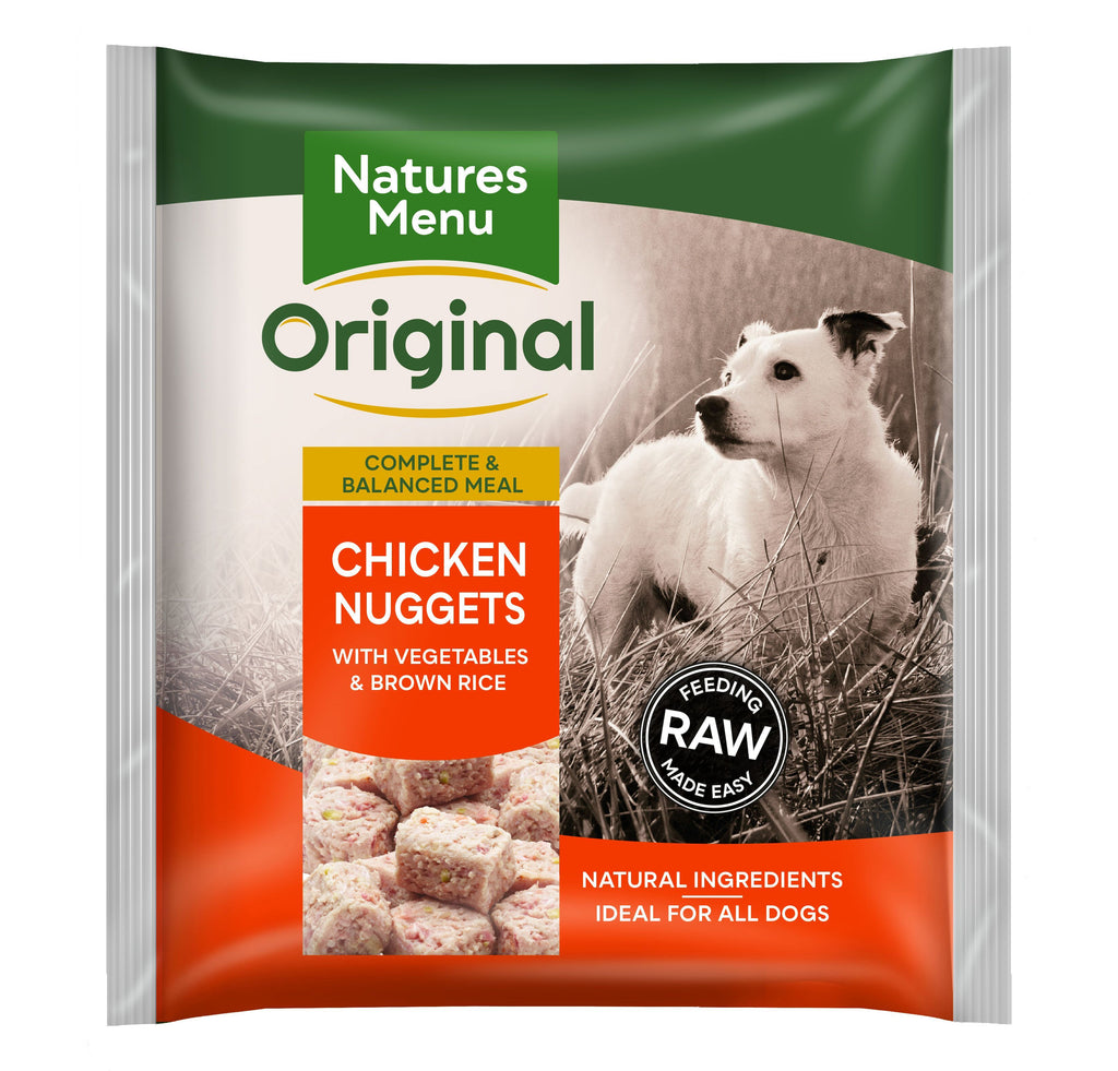 Natures Menu Chicken Nuggets Dog Food - Frozen Natures Menu