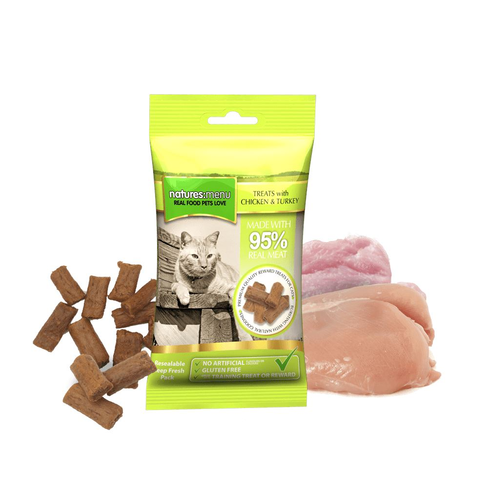 Natures Menu Chicken & Turkey Mini Treats for cats Cat Treats Natures Menu