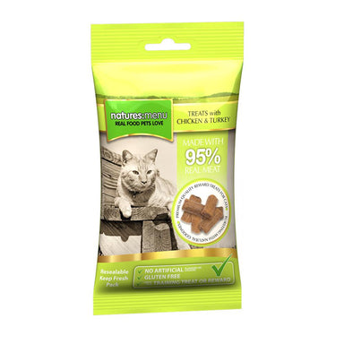 Natures Menu Chicken & Turkey Mini Treats x 12 Cat Treats Natures Menu