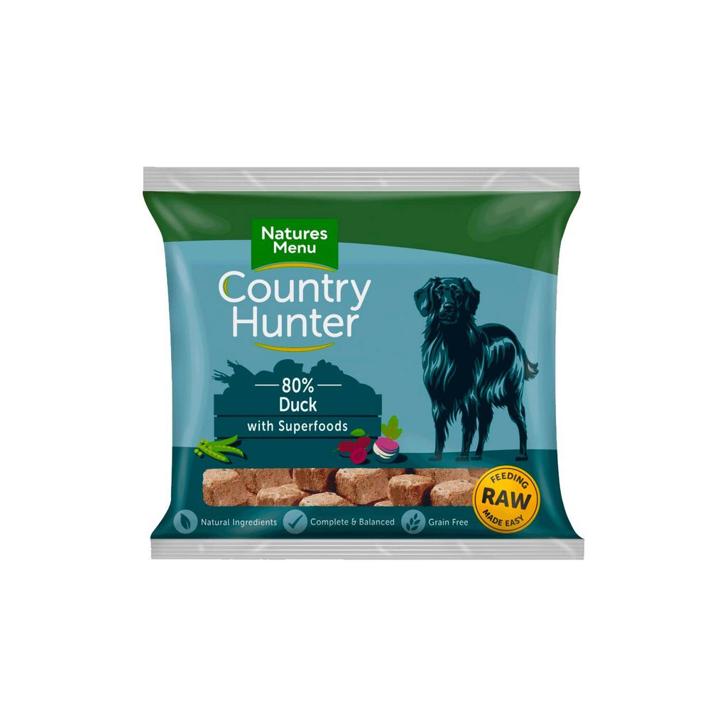 Natures Menu Country Hunter Duck Dog Food - Frozen Natures Menu