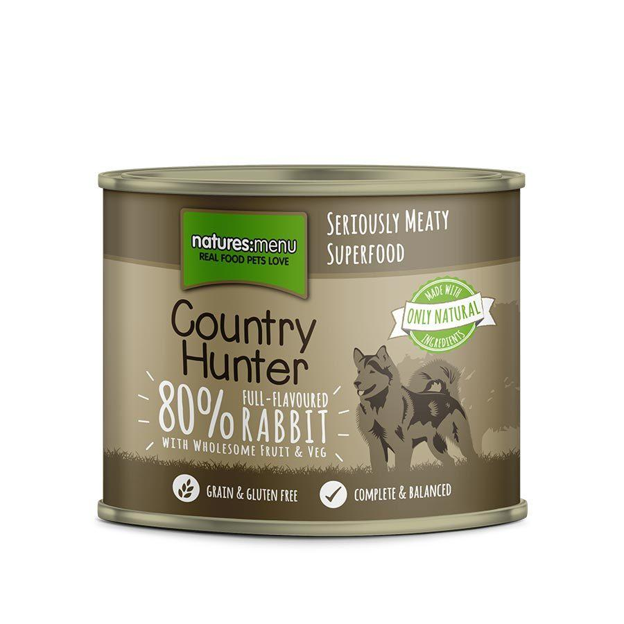 Natures Menu Country Hunter Full-Flavoured Rabbit Can Dog Food - Wet Natures Menu