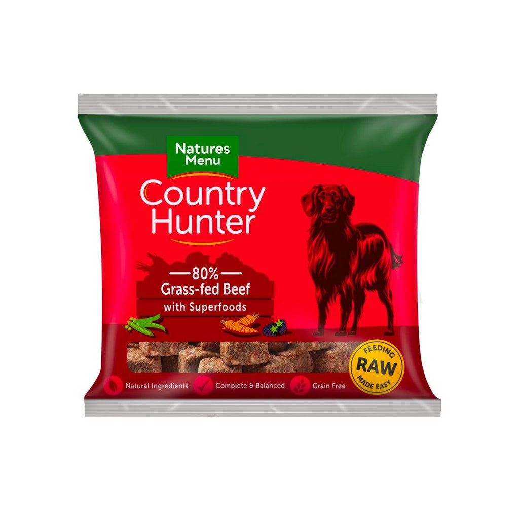 Natures Menu Country Hunter Grass-Fed Beef Dog Food - Frozen Natures Menu