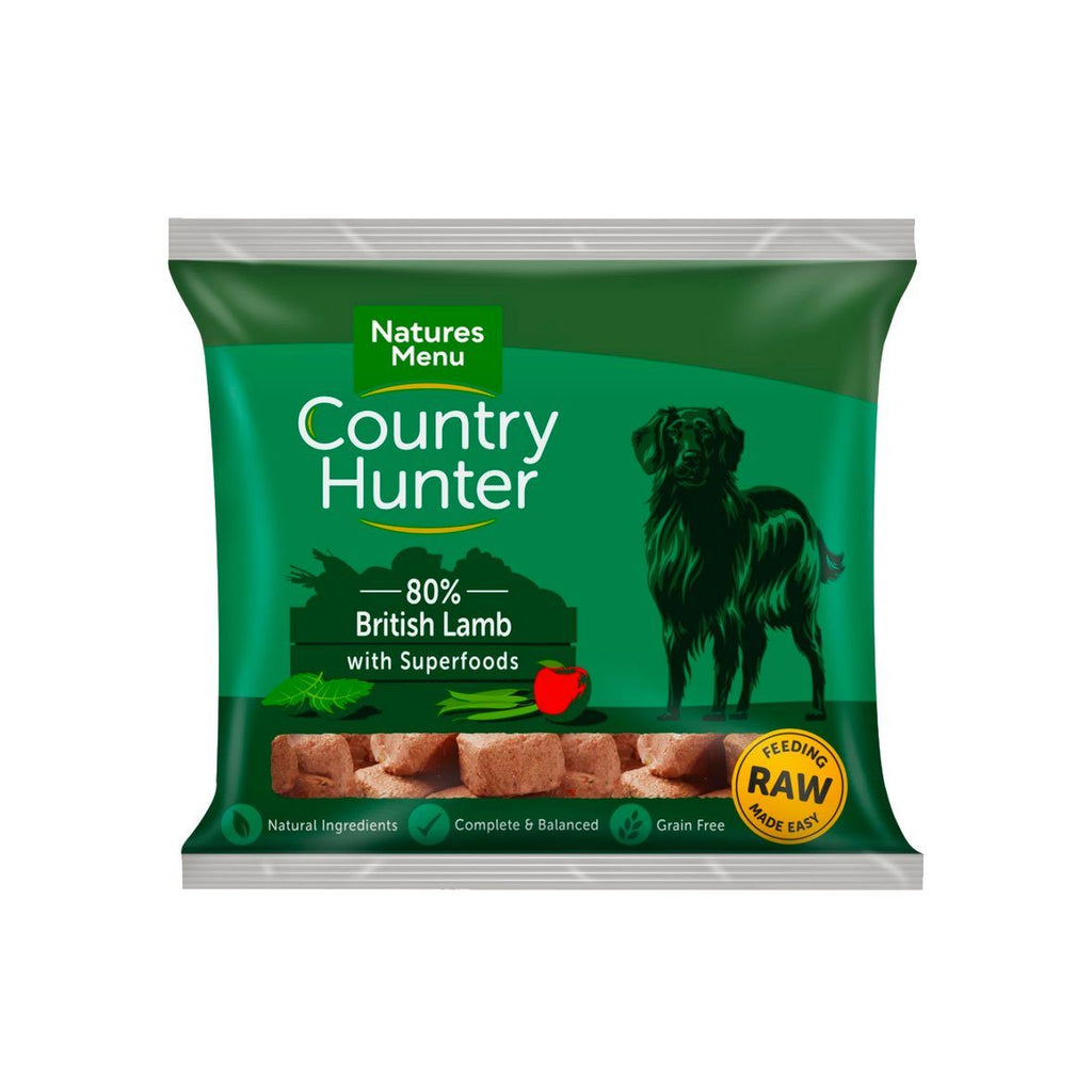 Natures Menu Country Hunter Lamb Dog Food - Frozen Natures Menu