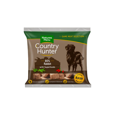 Natures Menu Country Hunter Rabbit Dog Food - Frozen Natures Menu