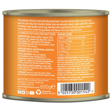 Natures Menu Country Hunter Salmon & Chicken Can Dog Food - Wet Natures Menu