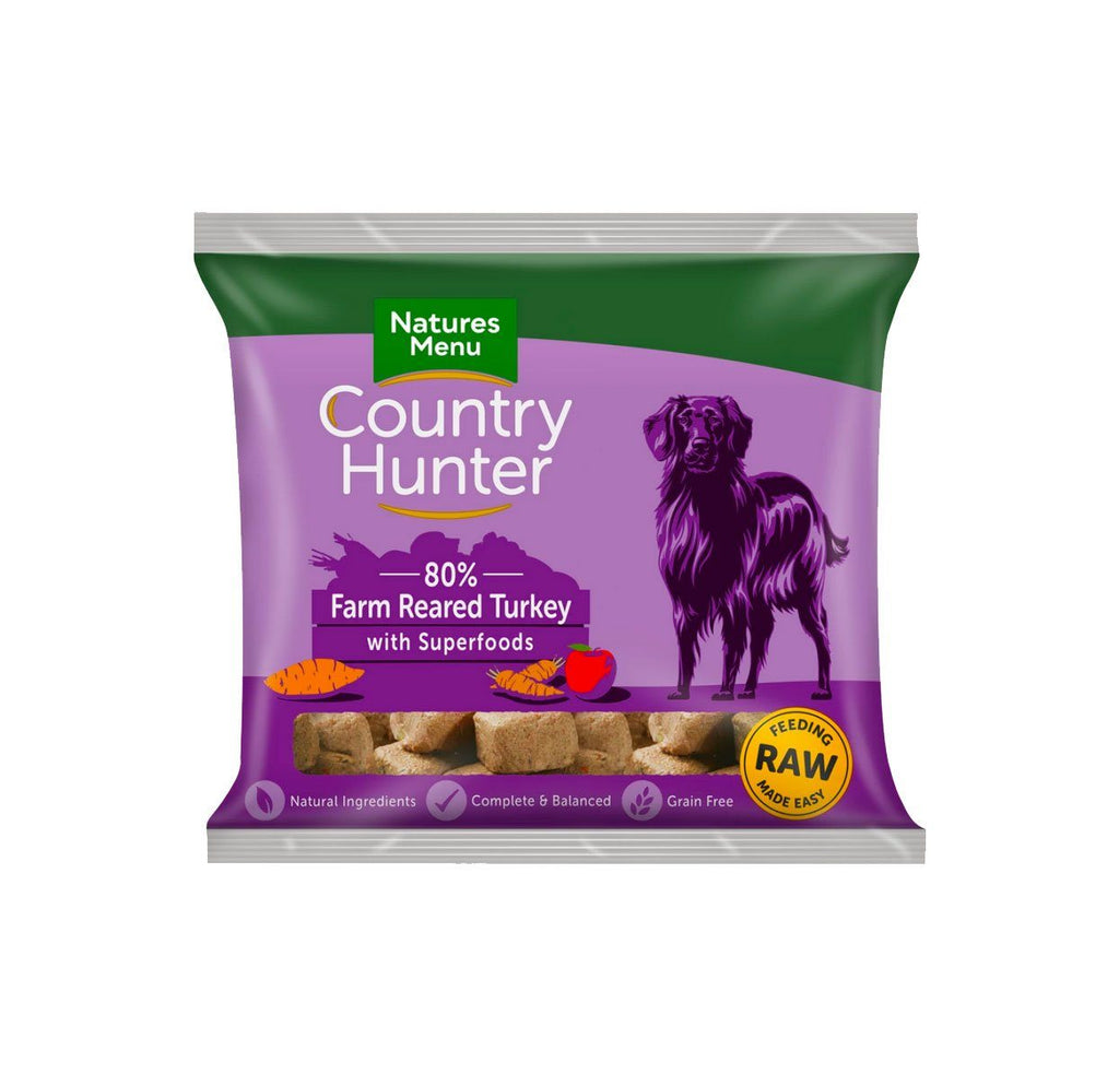 Natures Menu Country Hunter Turkey Dog Food - Frozen Natures Menu