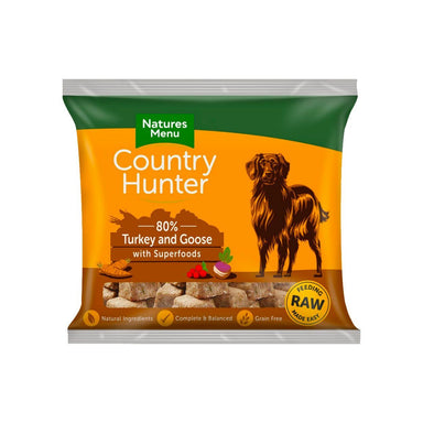 Natures Menu Country Hunter Turkey & Goose Dog Food - Frozen Natures Menu