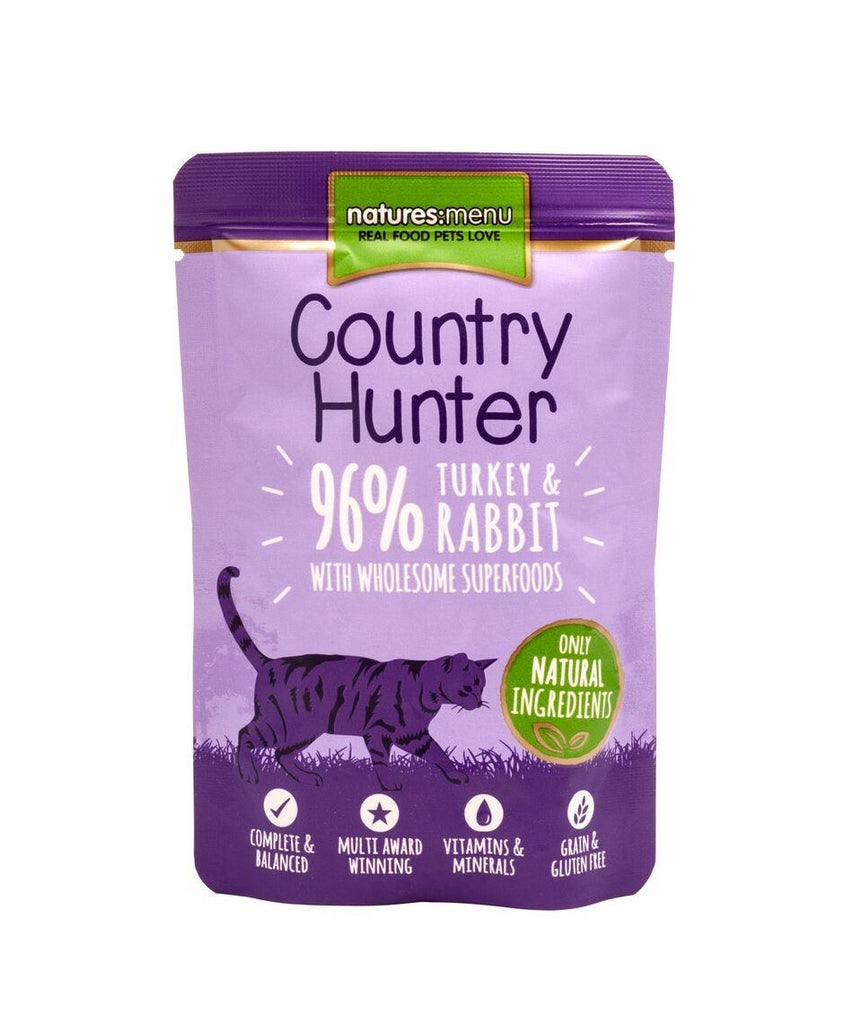 Natures Menu Country Hunter Turkey & Rabbit Cat Food - Wet Natures Menu