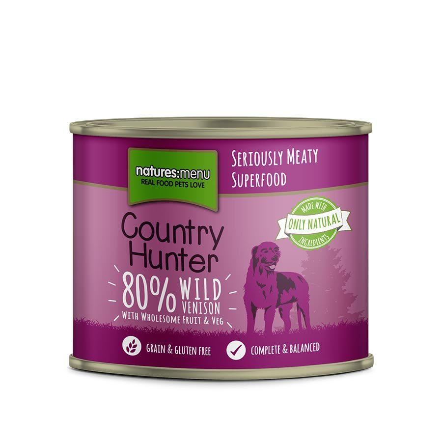 Natures Menu Country Hunter Wild Venison Can Dog Food - Wet Natures Menu