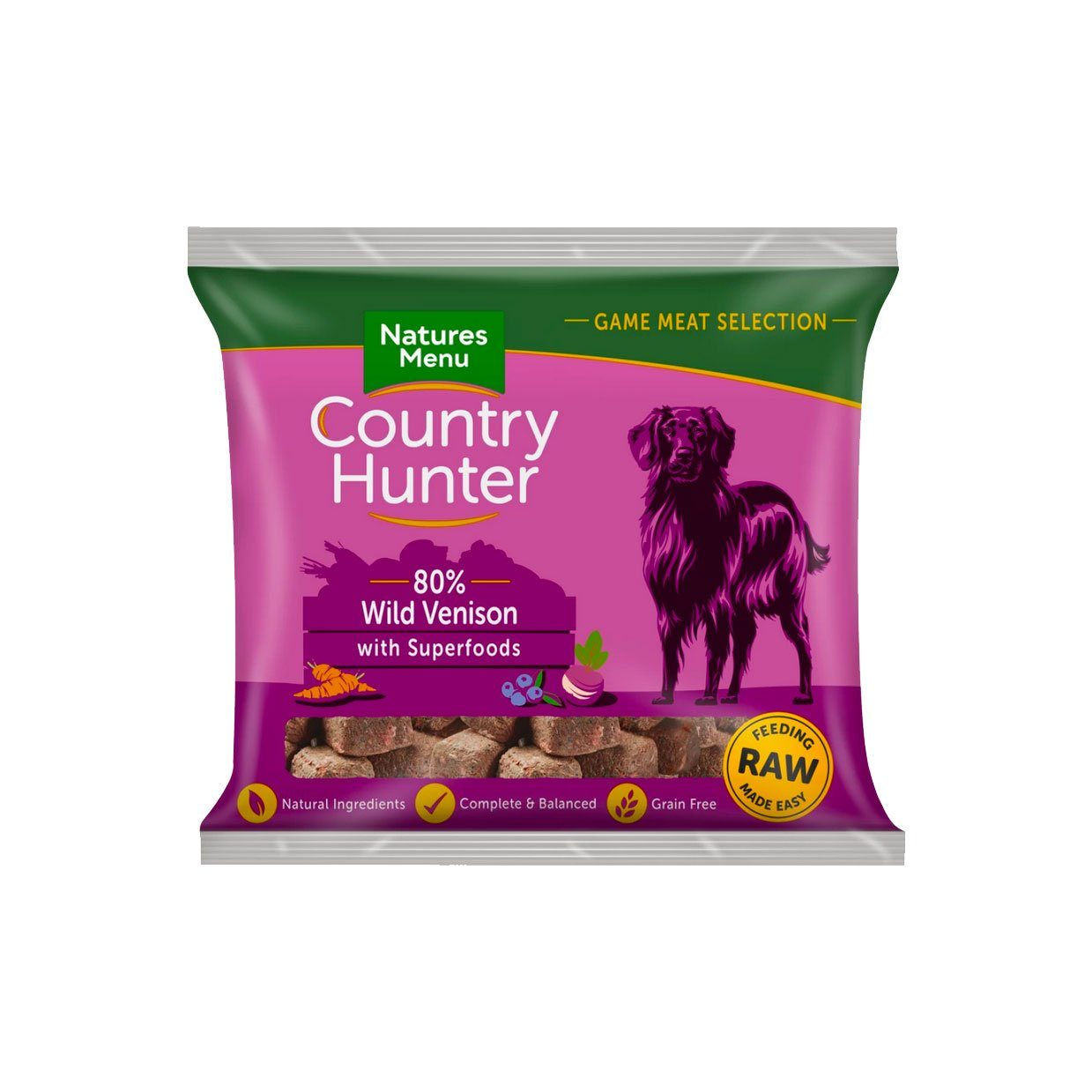 Natures Menu Country Hunter Wild Venison Dog Food - Frozen Natures Menu