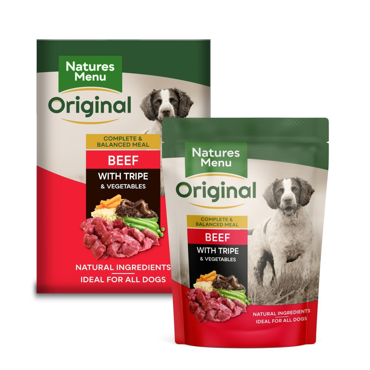Natures Menu Dog Food Pouch Beef with Tripe Dog Food - Wet Natures Menu
