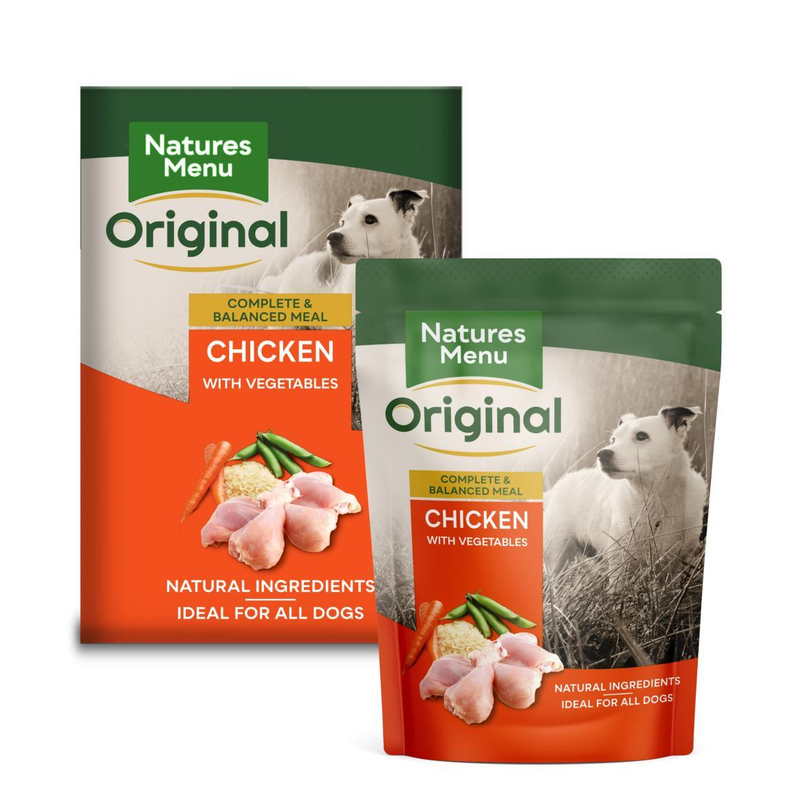 Natures Menu Dog Food Pouch Chicken with Vegetables & Rice Dog Food - Wet Natures Menu