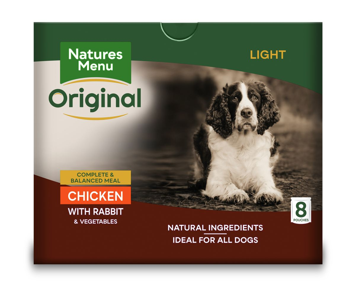 Natures Menu Dog Food Pouch Light Chicken with Rabbit Dog Food - Wet Natures Menu