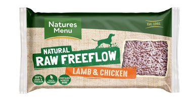 Natures Menu Freeflow Lamb & Chicken Dog Food - Frozen Natures Menu