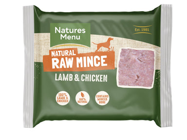 Natures Menu Lamb & Chicken Mince Portions Dog Food - Frozen Natures Menu