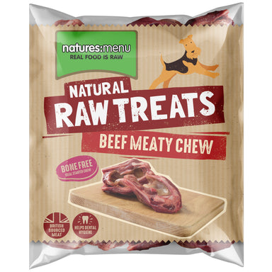 Natures Menu Meaty Beef Chews Dog Food - Frozen Natures Menu