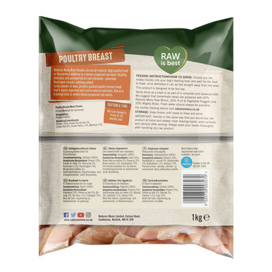 Natures Menu Poultry Breast Chunks Dog Food - Frozen Natures Menu