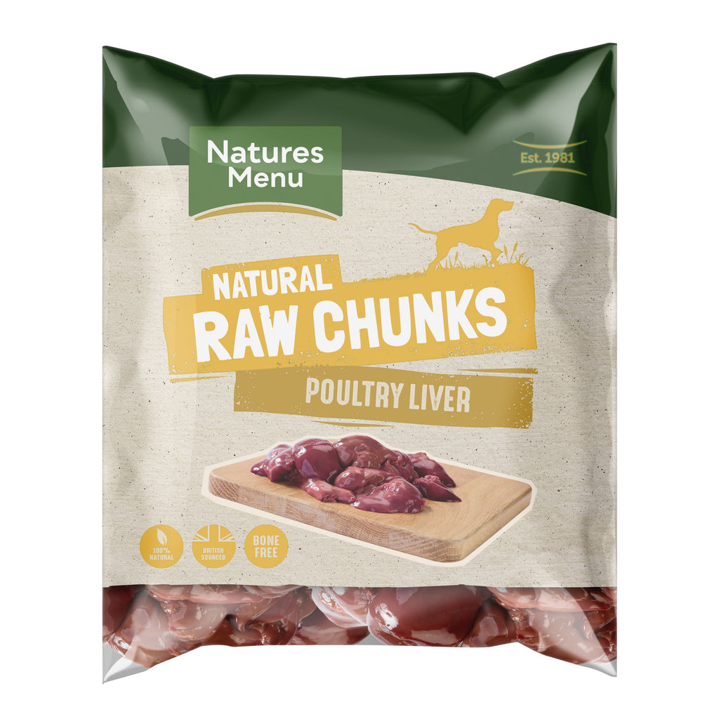 Natures Menu Poultry Liver Chunks Dog Food - Frozen Natures Menu