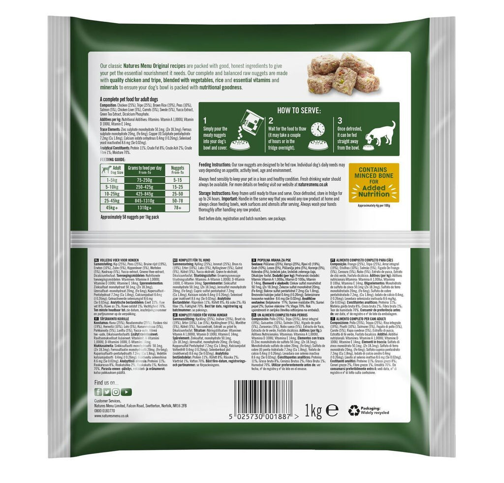 Natures Menu Puppy Nuggets Dog Food - Frozen Natures Menu