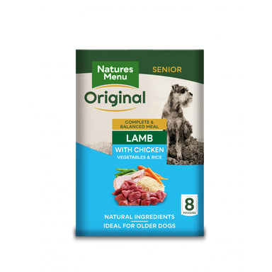 Natures Menu Senior Dog Food Pouch Lamb with Chicken Dog Food - Wet Natures Menu