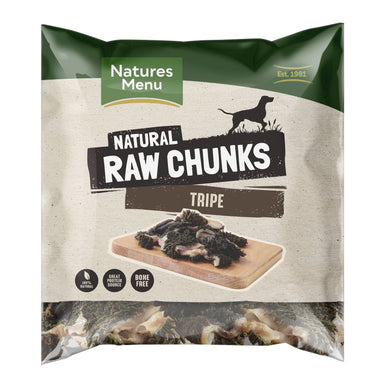 Natures Menu Tripe Chunks Dog Food - Frozen Natures Menu