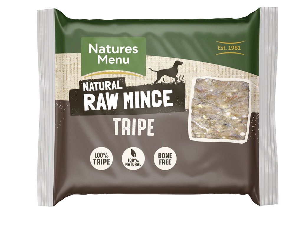 Natures Menu Tripe Mince Portions Dog Food - Frozen Natures Menu