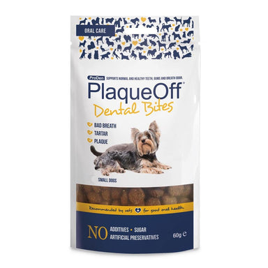 Plaque Off Dental Bites for Small Dogs Dog Supplements ProDen